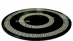 48 Inches Hand Made Dining Table Top Marble Living Room Table With Inlay Work