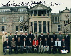 British Open Hand Signed 8x10 Color Photo  9 Signed Jack Nicklaus  Psa