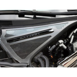 Perforated Stainless Steel Battery Cover/brake Fluid Cover For 10-13 Nissan Gt-r