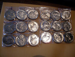 1955/and03956/and03957/58/p-d + 19 More Jefferson Nickels Mint State +++++