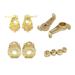 Brass Upgrade Parts For -4 4wd Rc Cars Hexes Portal Cover Accessories