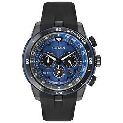 Citizen Eco-drive Ecosphere Menand039s Chronograph Blue Dial 48mm Watch Ca4155-12l
