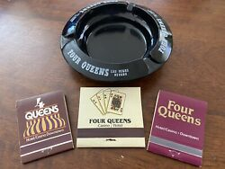 Four Queens Casino Las Vegas Ashtray And 3 Vintage Full Matchbook Lot