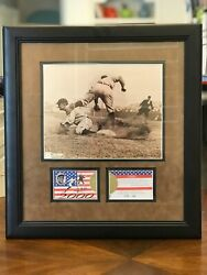 Ty Cobb Deluxe Framed 8x10 Photo And Ty Cobb Museum Baseball Cards Limited Run 500
