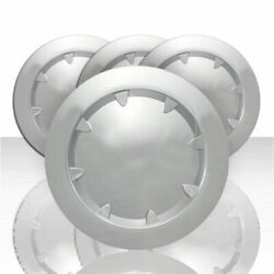 Set Of 4 Front And Rear Center Caps For 2007-2013 Gmc Sierra 1500 - Chrome