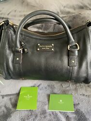 Kate Spade Ny💥new Black Pebbled Leather Hobo Bag/gift With Purchase🎁