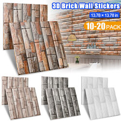 Tile Brick Stone Soft Foam Self Adhesive Wall Sticker Anti Collision Panel Decor