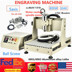 800w 5axis Cnc 3040 Router Cutting Milling Engraving Machine 0.8kw Vfd Usb 110v