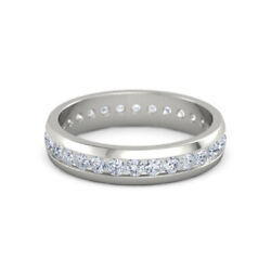 0.84 Ct Real Diamond Engagement Ring Solid 14k White Gold Menand039s Band Size 10 12