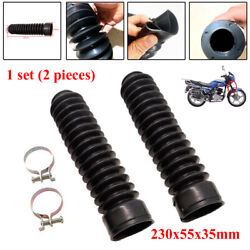 Motorcycle Rubber Front Fork Cover Dust Gaiters Boots Jacket Gaitors Waterproof