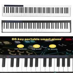 88 Key Digital Piano Keyboard W/ Pedal And Bag Music Instrument Home W/charger