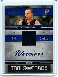 2009-10 Absolute Memorabilia Tools Of The Trade Blue /100 Stephen Curry Tott23