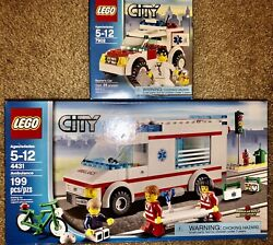 Both Sealed Lego Set 4431 Ambulance And 7902 Doctorandrsquos Car City Misb Unopened New