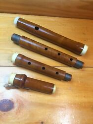 Antique Boxwood 1-key Flute In D Concert C Made C.1810-impeccably Restored