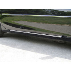 2pc. Luxury Fx Stainless Steel 1 1/4 Rocker Trim For 2015-2017 Toyota Camry