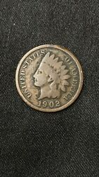 1902 Indian Head One Cent Penny Coin