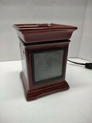 New Scentsy Warmer Full Size Retired Gallery red brown