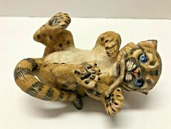Sidney River Shore 1984 Baby Cougar Cat First Issue Porcelain Roger Brown Figure