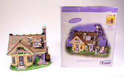 Department 56 Easter Snow Village Chocolate Bunny Factory Lit Building 55355