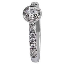 Round Cut Lab Created 1.70 Ct Diamond 14k Solid White Gold Band Set Size 4 5 6 7