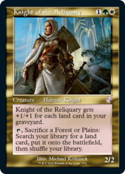 1x Knight Of The Reliquary - Foil Nm English Mtg Time Spiral Remastered