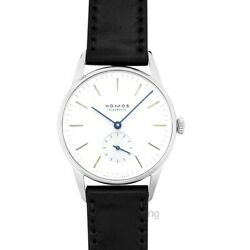 Nomos Glashuette Orion 309 White Silver-plated Dial Unisex Watch Genuine