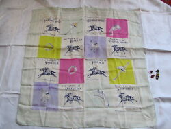 Vintage Silk Horse Racing Derby Scarf And Pins,churchill Downs,classic,widener,etc
