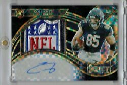 2020 Select Cole Kmet Jumbo Black Nfl Shield Rookie Rpa Patch Auto 1 Of 1 Rc