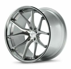 19 Ferrada Fr2 Silver Concave Wheels Rims Fits Ford Mustang 19x8.5 And 19x9.5