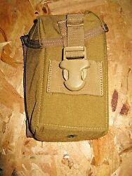 Lot Of 2 New Molle An/pvq-31a/b Trijicon Acog Optic Padded Pouches Coyote Usgi