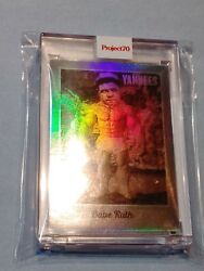 Topps Project 70 Babe Ruth Rainbow Foil 3/70 Jersey Number Ron English 107