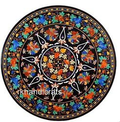 Floral Pattern Inlaid Dining Table Top Marble Kitchen Table Home Decor 48 Inches