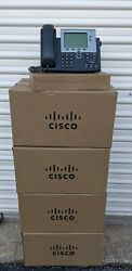 Lot Of 28 Cisco 7942 Ip Phone Cp-7942g Poe W/ Handsets, Stands