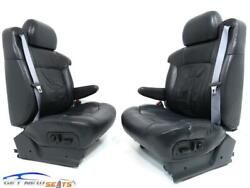 Chevy Silverado Gmc Sierra Charcoal Leather Seats Front Seats 1999 - 2002
