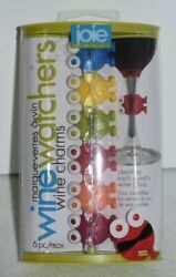 Bnip Joie Wine Watchers Wine Glass 6 Silicone Charms Eyes And Legs