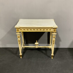Antique Small Table Console From The Center Lacquered And Golden Louis Xvi Xix