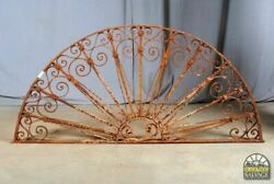 Antique Architectural Salvage Old World Wrought Iron Transom 64.5w