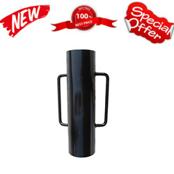 Fence Post Driver With Handle 34lb Black T Post Pounder Hand Post Rammer