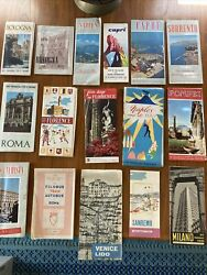 Vintage Lot Of 16 Italy Travel Booklets Brochures Maps. 1950andrsquos Roman Holiday Era