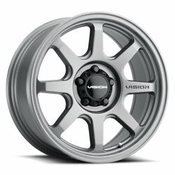 17 Inch 5x5 4 Wheels Rims 17x9 -12mm Grey Vision Flow 351