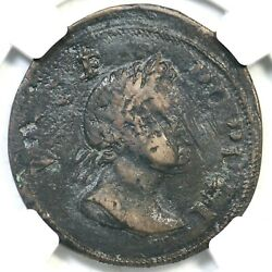 1760 N-6 R-5 Ngc Vf Details Voce Populi Half Penny Colonial Copper Coin 1/2p
