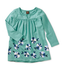Tea Collection Toddler Girls Rainbow Floral Graphic Girls Patina Dresssize 3t