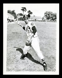 1955 Johnston Cookies Bill Bruton Original Unique 4x5 Photograph Used For Card