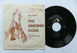 Picture Sleeve W 45 Rpm Don Charles Presents The Singing Dogs Rca Novelty
