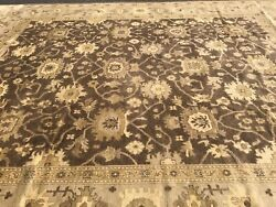 Handmade Palace Size Antique Turkish Oushak Modern Contemporary Design 12and039x15and039