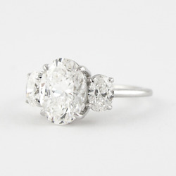 1.50 Ct Real Diamond Solid 950 Platinum Women Engagement Ring Size 6.5 7 8 9 9.5