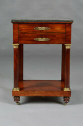 G-54 Empire Beistellkommode/bedside Cabinet/sewing Table 1810 France