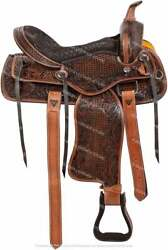New Outdoor Sports Equestrian Western Saddle With Tack Set.