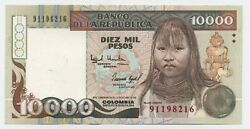 Colombia 10000 Pesos Oro 1994 Pick 437a Unc Uncirculated Banknote