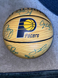 Paul George And Team Indiana Pacers 2012-13 Signed Spalding Basketball With Coa